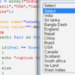 Populating dropdown box from array and foreach loop in PHP