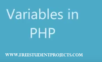 Variables in PHP