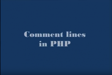 Comment lines in PHP