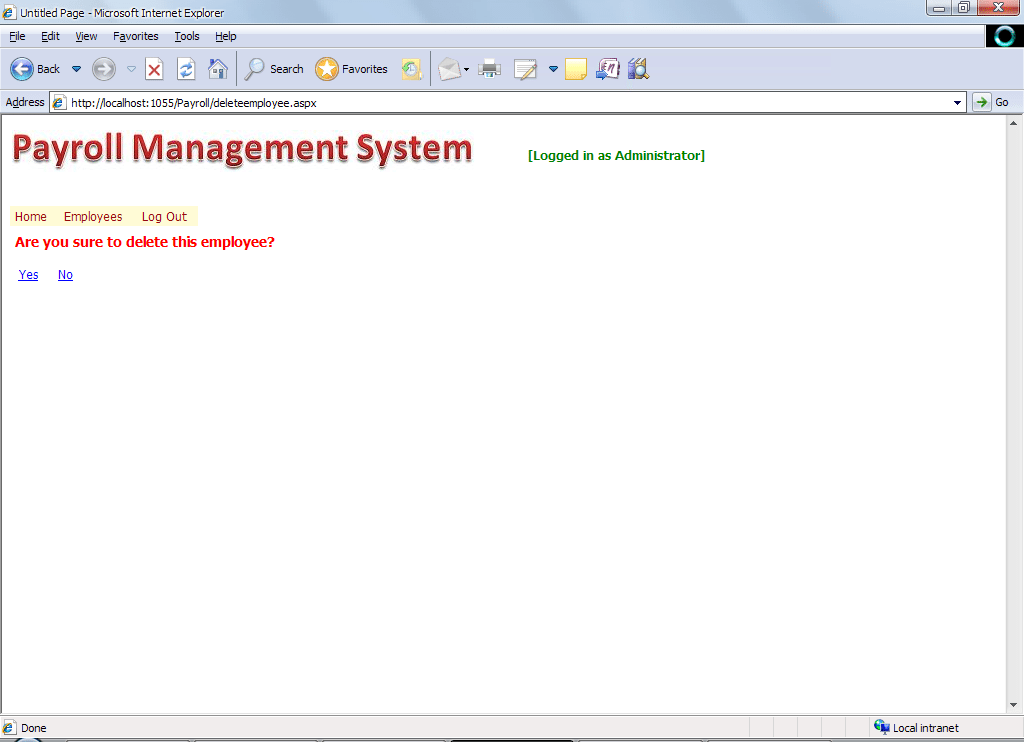 Payroll Management System In Asp Net3 Student Project Guide