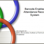 Barcode Enabled Attendance Record System Source Code