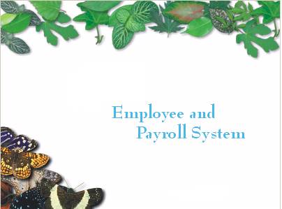 Employee and Payroll System