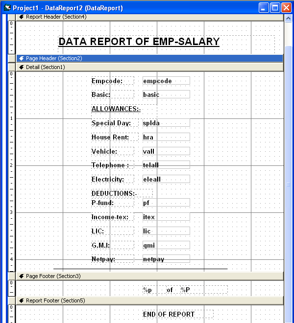 Screenshot of Employee and Payroll System