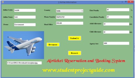 Airticket Reservation and Booking System