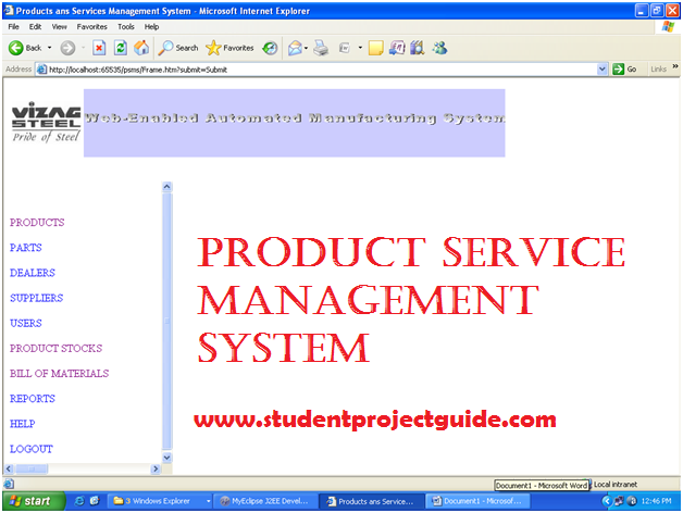 Product Service Management System