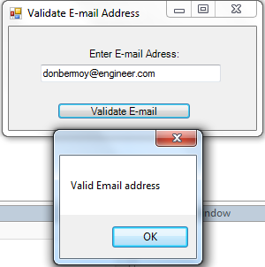 VB.NET Email Validation